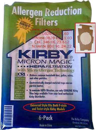 sacchetti kirby  Gruppo Kirby - Conf. da 6 Sacchetti Kirby G Style